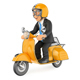 3D Businessman Going to Work by Scooter Motorcycle - GraphicRiver Item for Sale