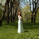 Woman In The Blooming Spring Garden - VideoHive Item for Sale