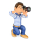 3D Photographer Kneeling with his SLR Camera - GraphicRiver Item for Sale