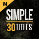 Download 30 Simple Titles from VideHive