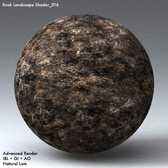 Rock Landscape Shader_016 - 3DOcean Item for Sale