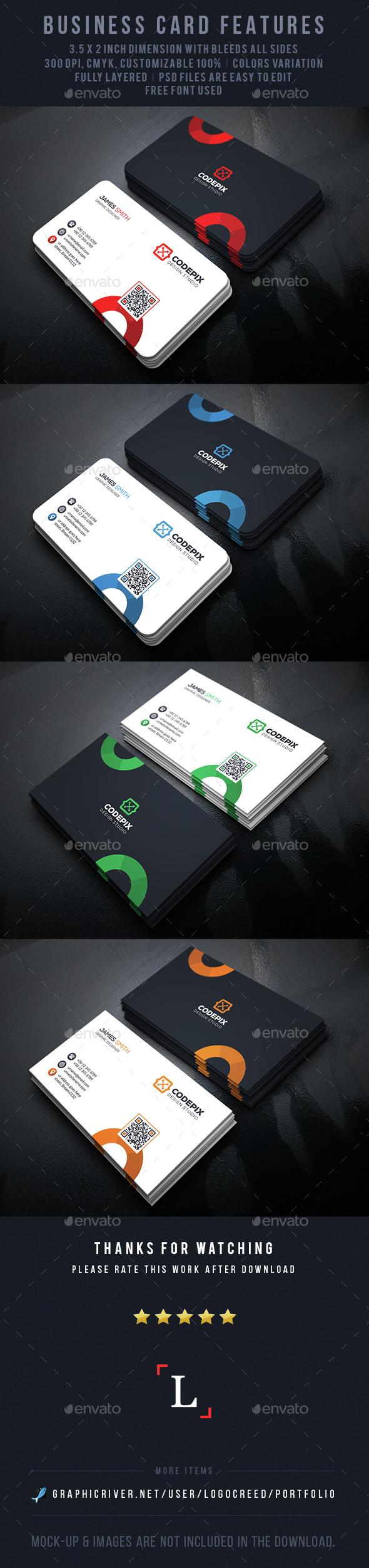 Circles Business Card - Business Cards Print Templates