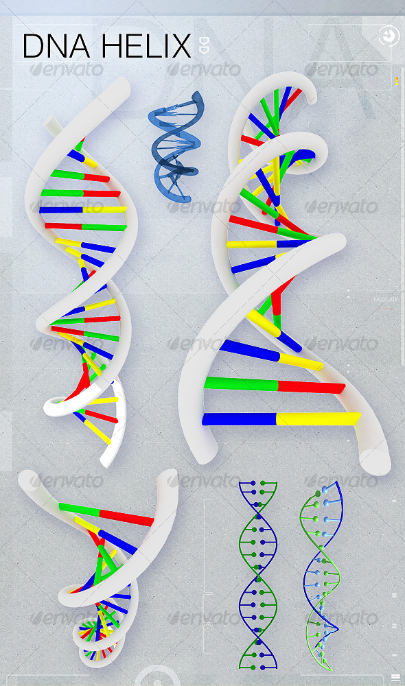 DNA Helix - 3D Backgrounds