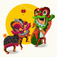 Chinese Lunar New Year Lion Dance Fight - GraphicRiver Item for Sale