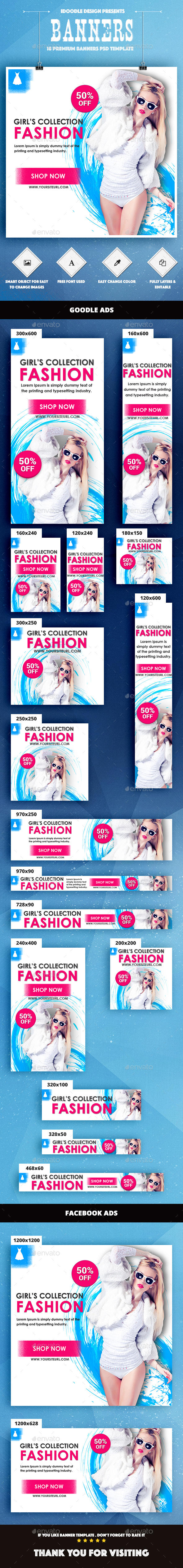 Fashion Banners Ads [Sexy Girl] - Banners & Ads Web Elements