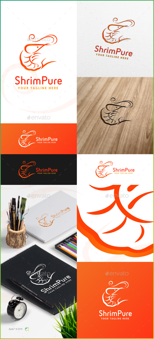 ShrimPure Logo Template - Animals Logo Templates
