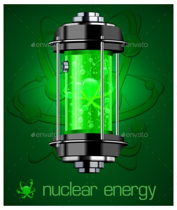 Nuclear Energy and Text - Miscellaneous Vectors