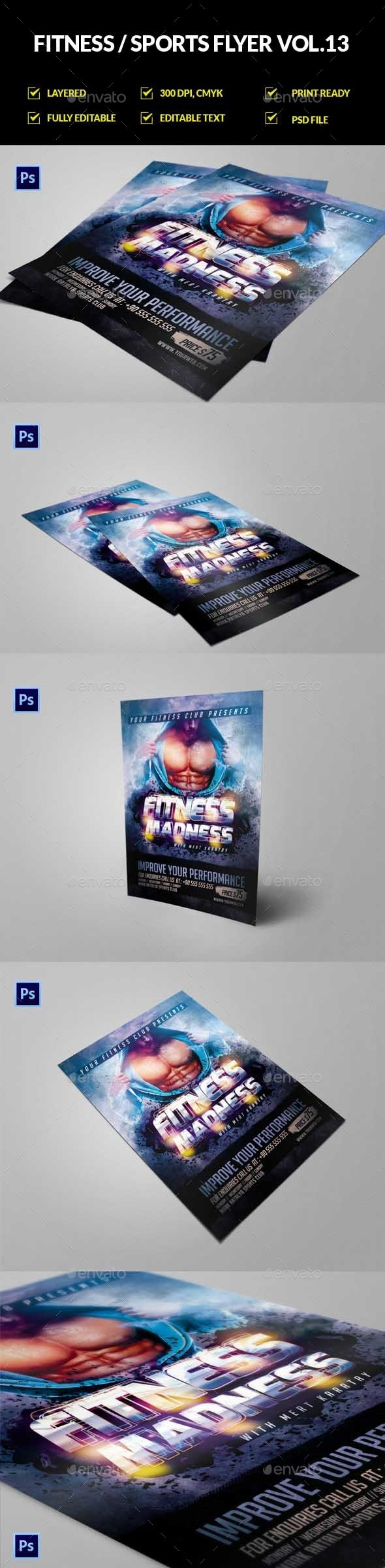 Fitness Gym Flyer / Poster Vol.13 - Sports Events