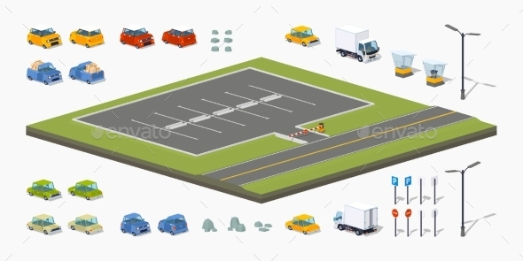 Parking Lot Constructor - Man-made Objects Objects