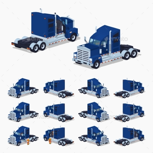 Heavy American Truck - Man-made Objects Objects