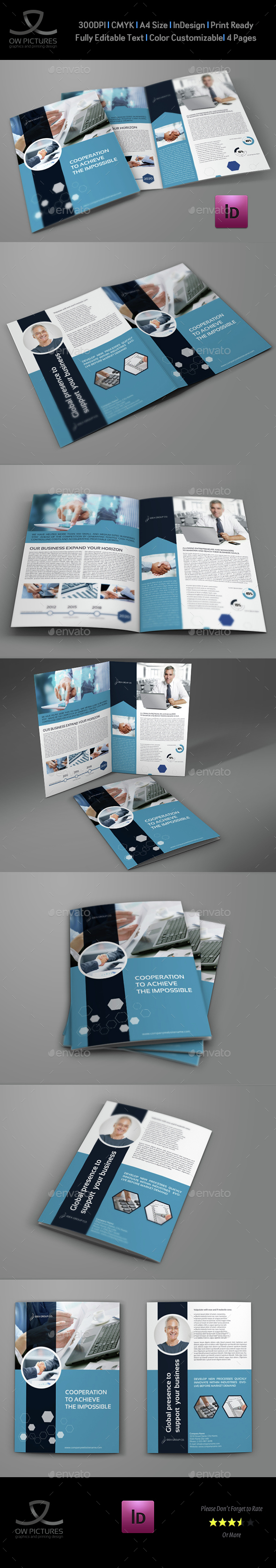 Company Profile Brochure Bi-Fold Template Vol.42 - Corporate Brochures