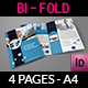 Company Profile Brochure Bi-Fold Template Vol.42 - GraphicRiver Item for Sale