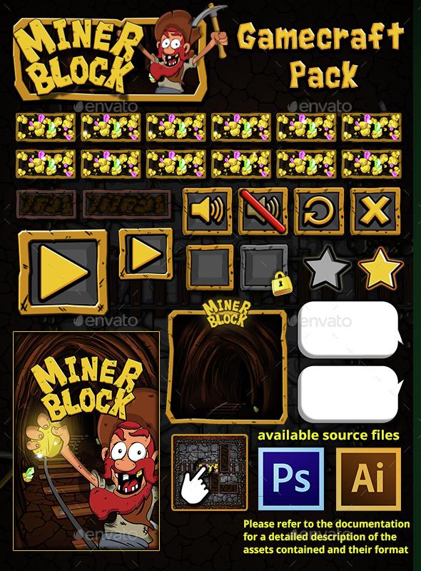 Miner Block - Game Assets - Game Assets