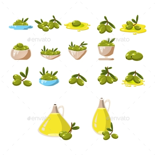 Olives Icons Set - Web Technology
