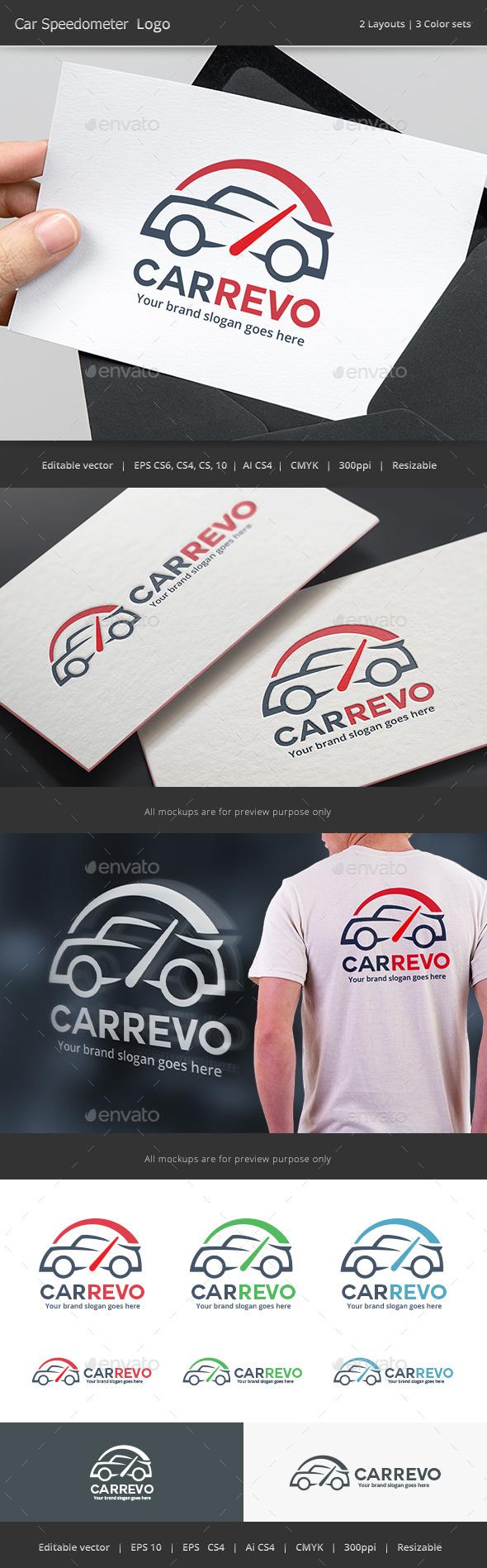 Car Speedometer Logo - Vector Abstract