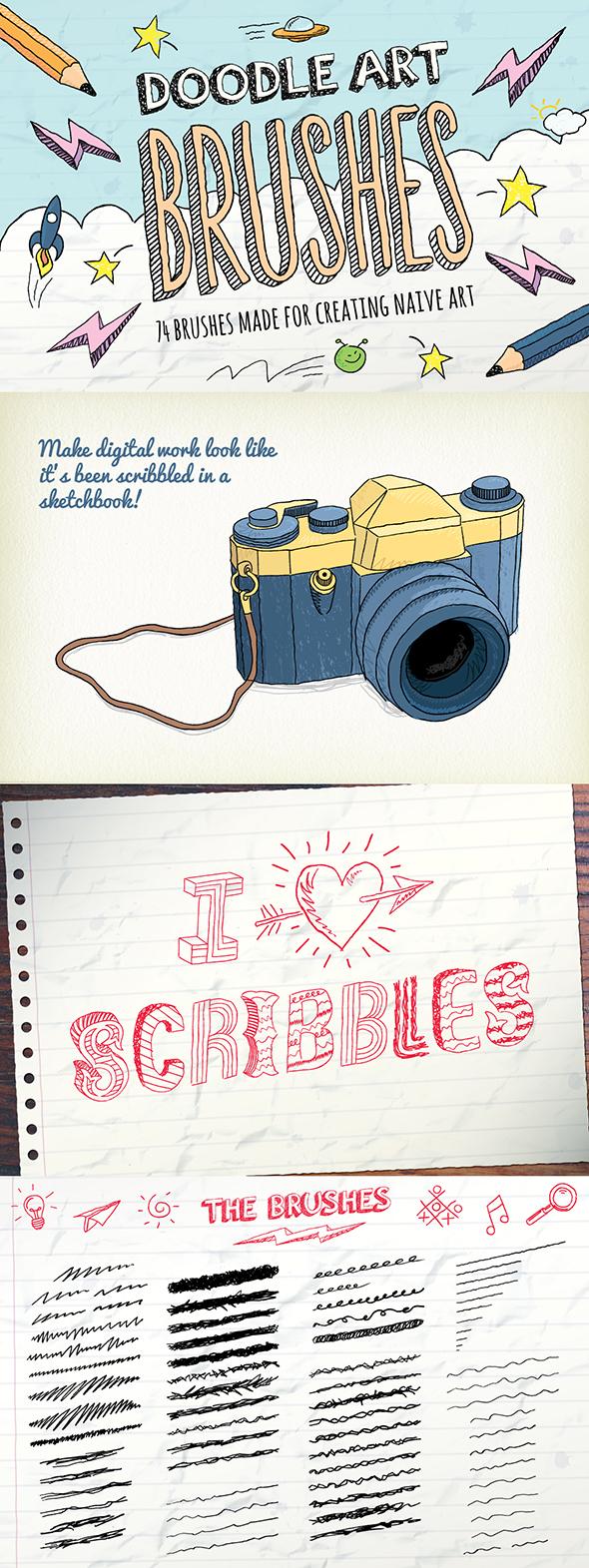 Doodle Brushes - Brushes Illustrator