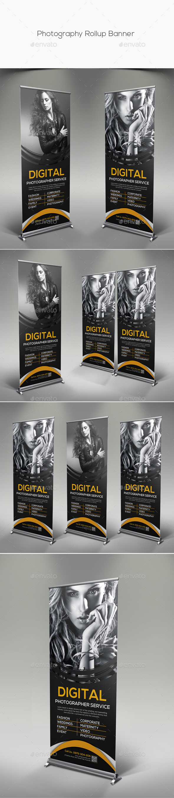 Photography Rollup Banner - Signage Print Templates