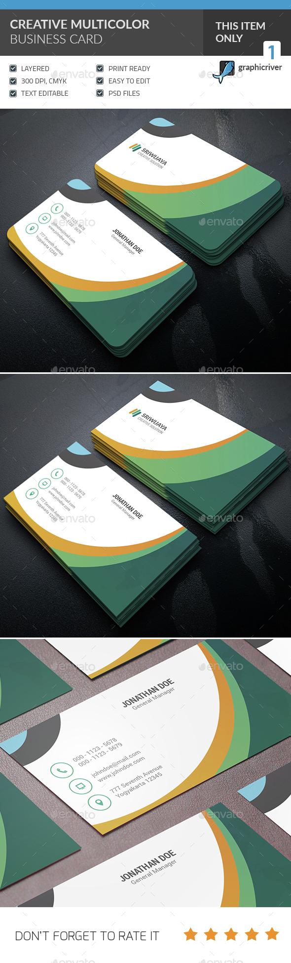 Creative Multicolor Business Card - Corporate Business Cards