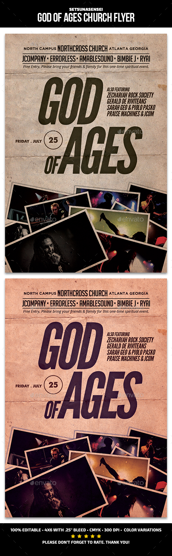 God of Ages Church Flyer - Church Flyers