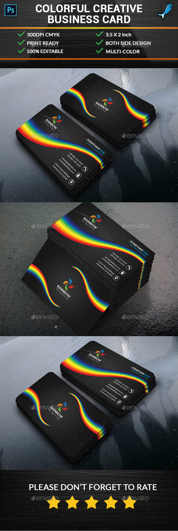 Colorful Creative Business Card - Creative Business Cards