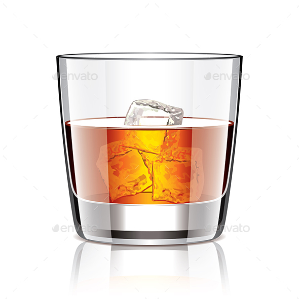 Glass of Whiskey - Food Objects