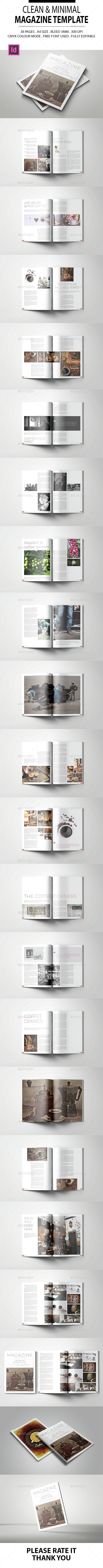 Clean & Minimal Magazine Template - Magazines Print Templates