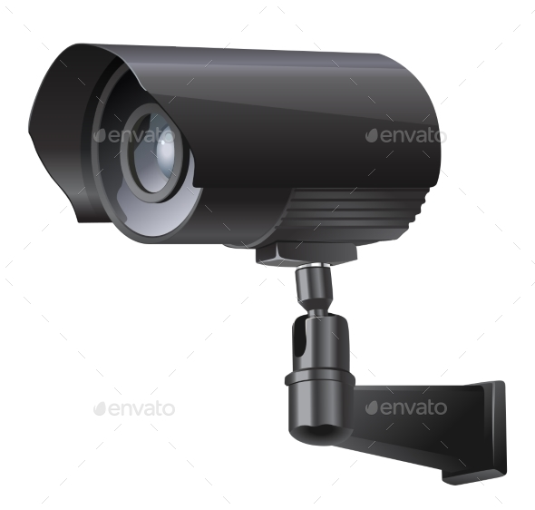 Surveillance Camera Viewed From the Side - Media Technology