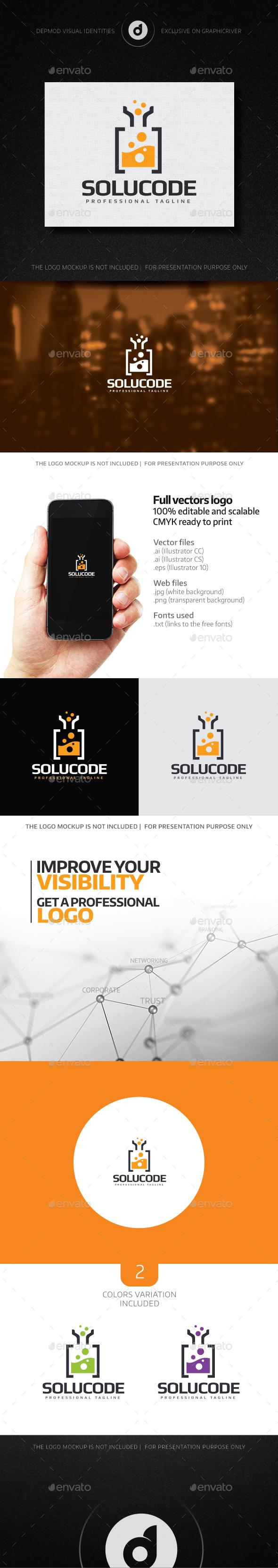 SoluCode Logo - Symbols Logo Templates