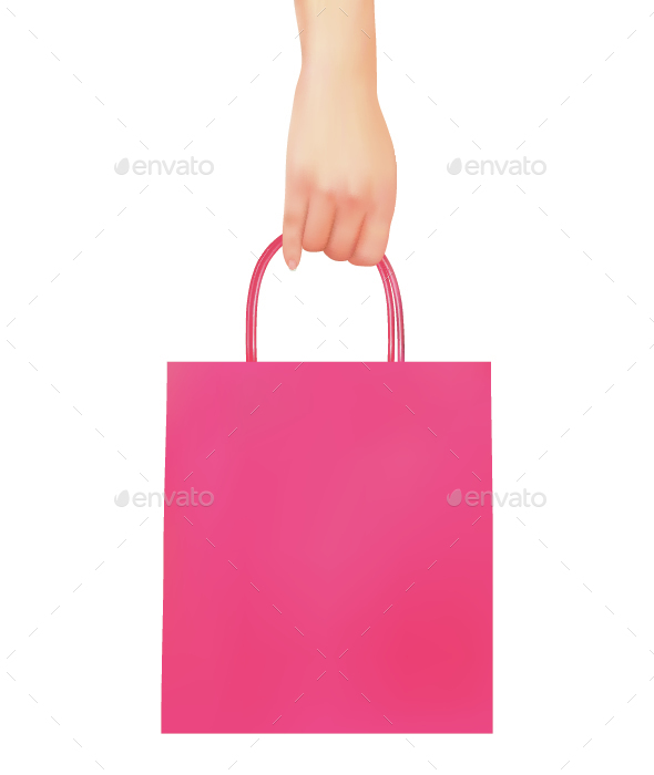 Hand Holding Shopping Bag - Retail Commercial / Shopping