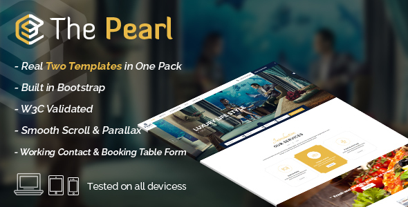 Pearl – Hotel & Restaurant Template