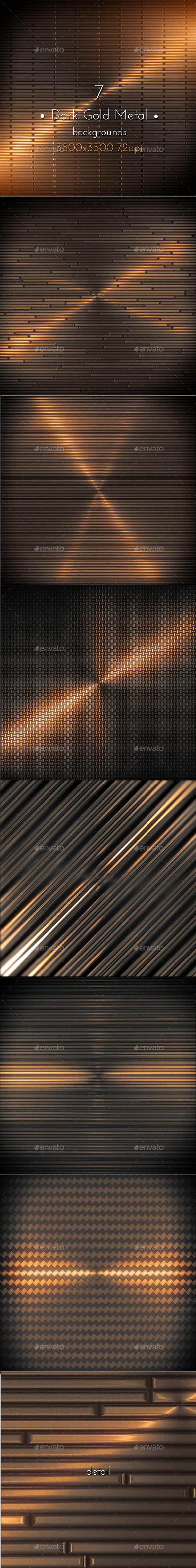 Dark Gold Metal Surface - Tech / Futuristic Backgrounds