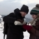 Couple Have Tea In Mountains - VideoHive Item for Sale