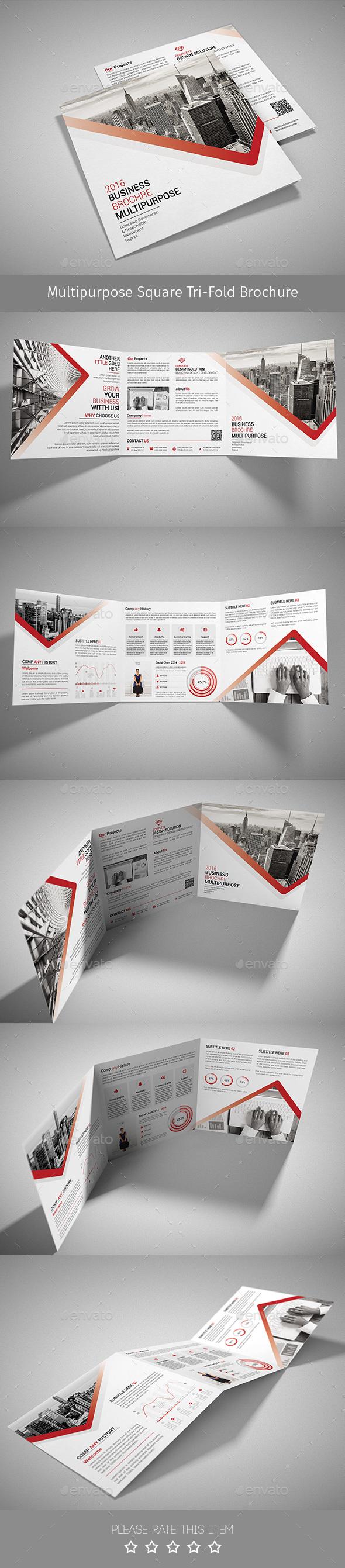 Corporate Tri-fold Square Brochure 07 - Corporate Brochures