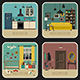 Set of Interior Rooms - GraphicRiver Item for Sale