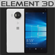 Element 3D Microsoft Lumia 950 XL White - 3DOcean Item for Sale