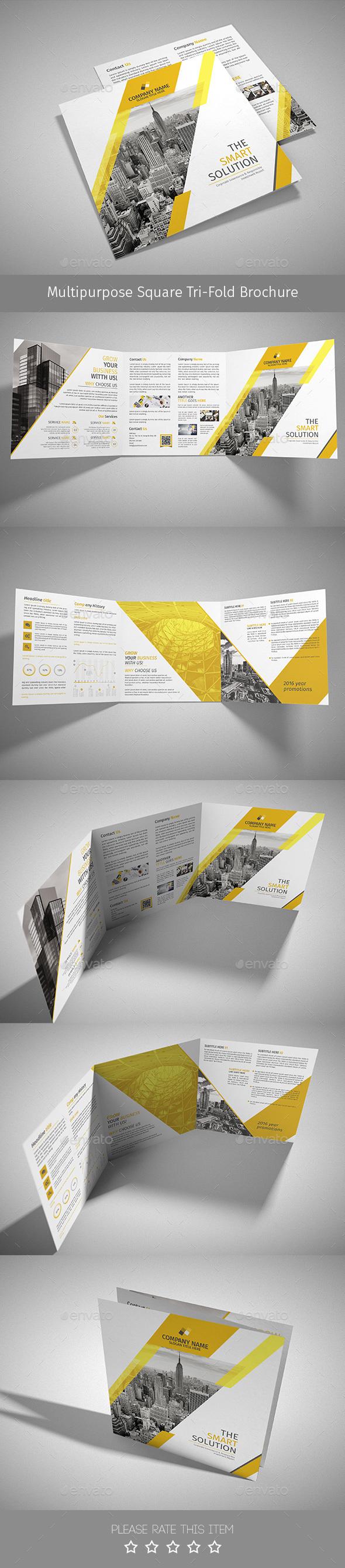 Corporate Tri-fold Square Brochure 08 - Corporate Brochures