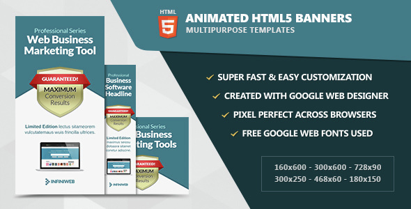 Animated HTML5 Banners - CodeCanyon Item for Sale