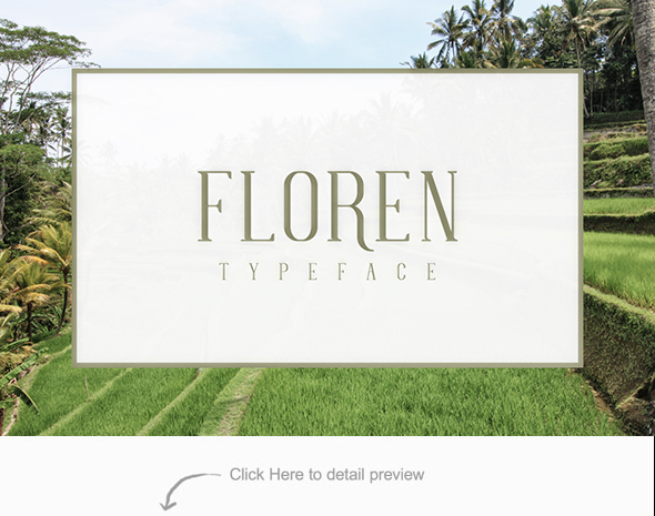 FLOREN TYPEFACE - Serif Fonts