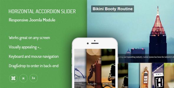 Horizontal Accordion Slider - Responsive Joomla Extensions - CodeCanyon Item for Sale