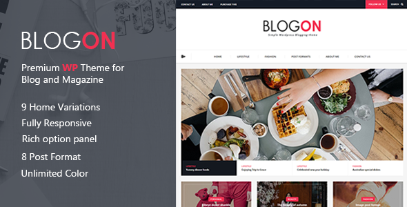 Blogon – A Responsive WordPress Blog Theme