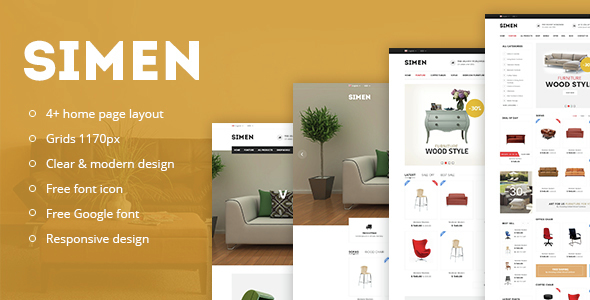 Simen – Responsive eCommerce Bootstrap Template