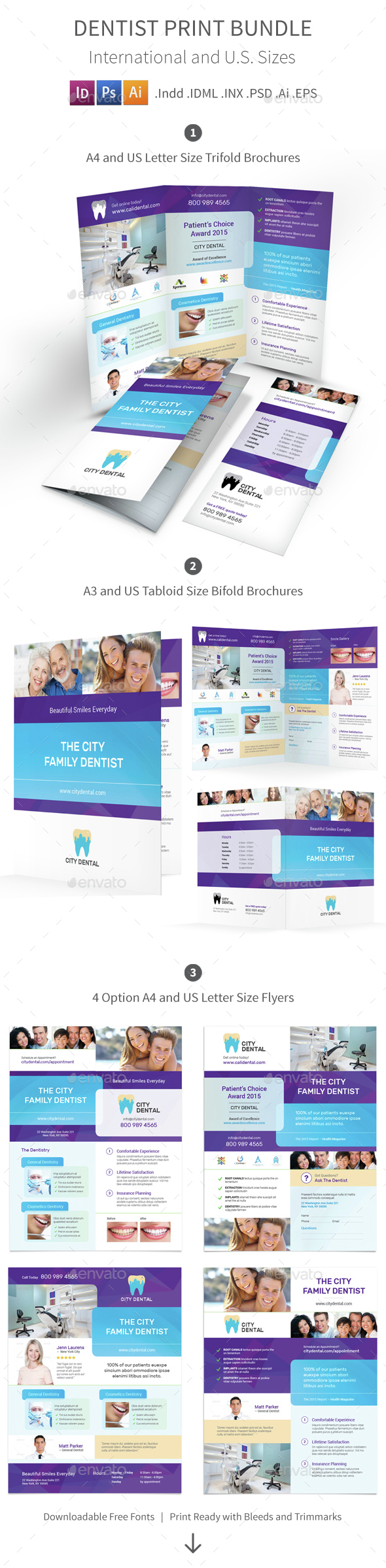 Dentist Print Bundle 4 - Informational Brochures