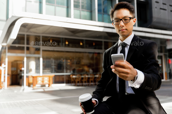 I am always in touch with ny company - Stock Photo - Images