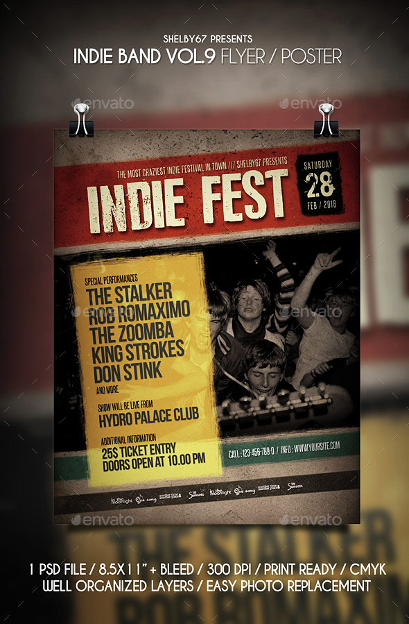 Indie Band Flyer / Poster Vol 9 - Events Flyers