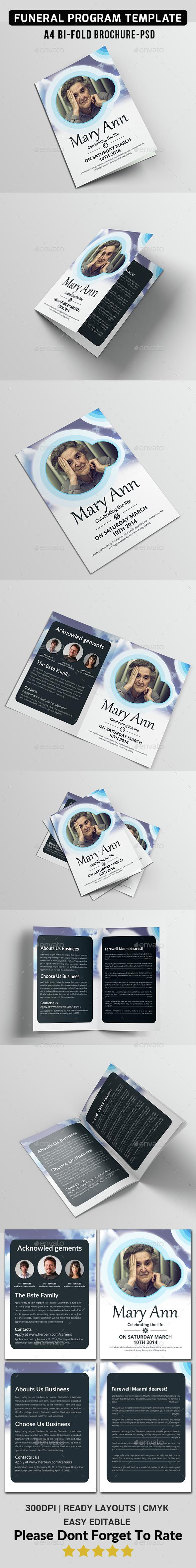 Funeral Program Template  - Corporate Brochures