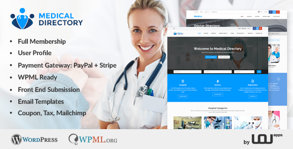 Medical Directory – Hospitals & Doctors Listing Theme