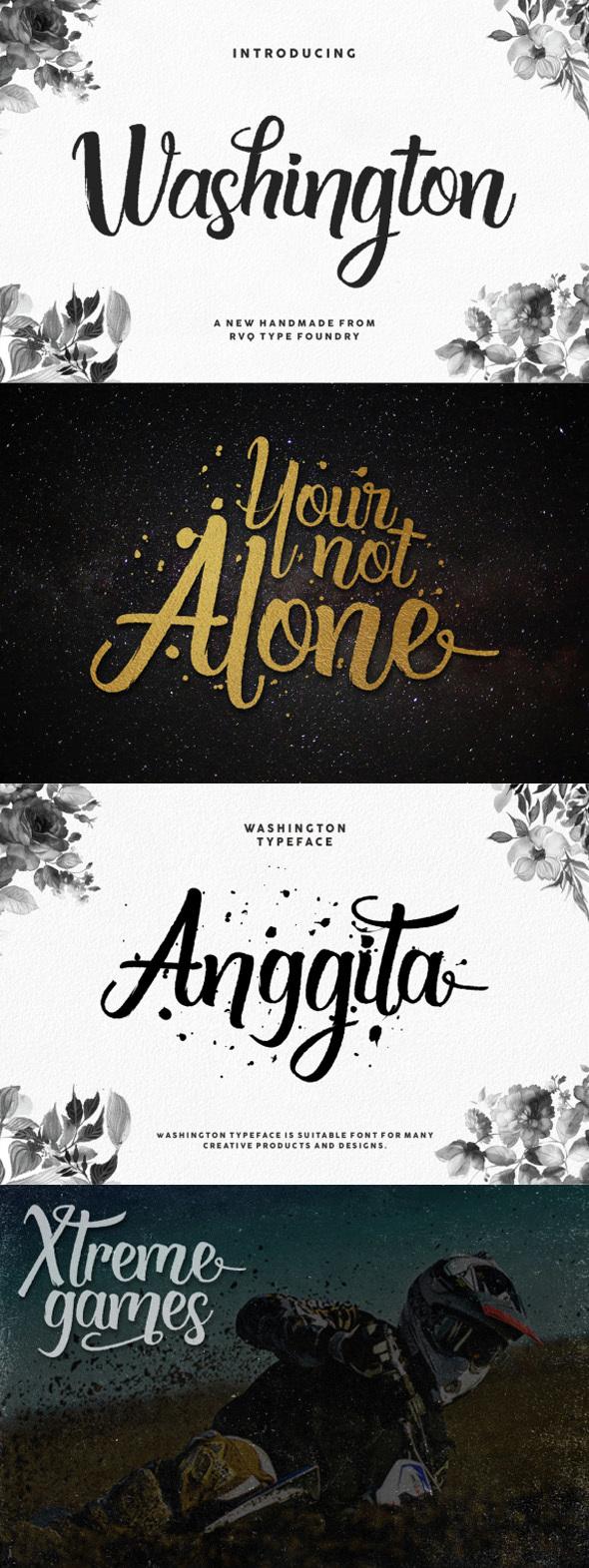 washigton script - Script Fonts