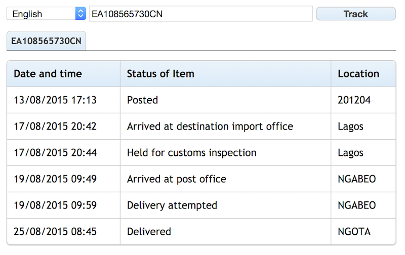 Ems delivery status php script by ihomp codecanyon - Post office tracking item ...