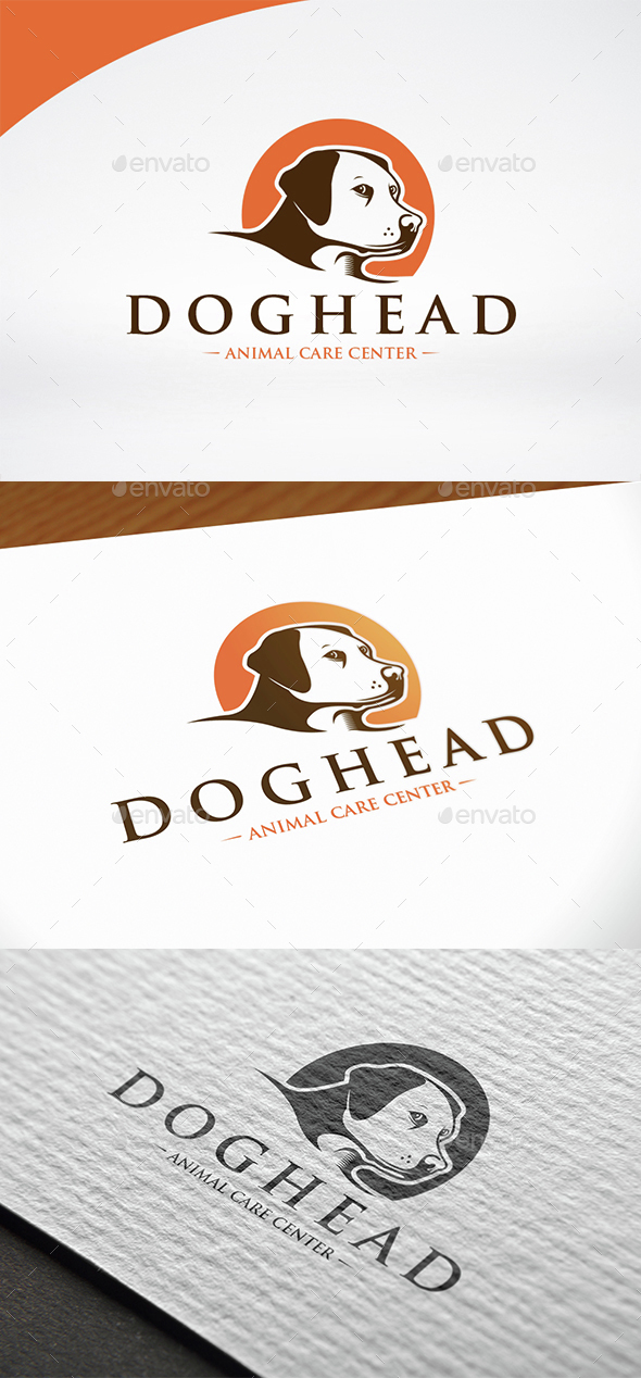 Dog Head Logo Template - Animals Logo Templates