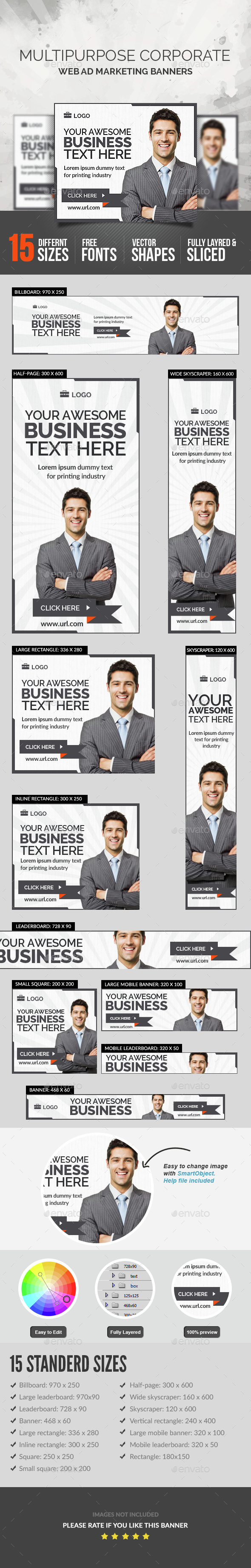 Multipurpose Corporate Banner - Banners & Ads Web Elements